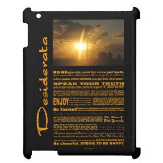 Desiderata Poem People At Shiny Sunset iPad Case