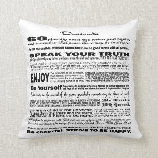 Desiderata Poem Poetry Poesy Verse Writing (White) Pillow