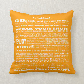 Desiderata Poem Poetry Poesy Writing (Gold) Pillow