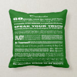 Desiderata Poem Poetry Poesy Writing Verse (Green) Pillows