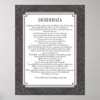 Desiderata Poem Poster