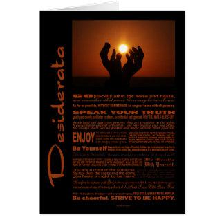 Desiderata Poem Praying At Sunsent Card