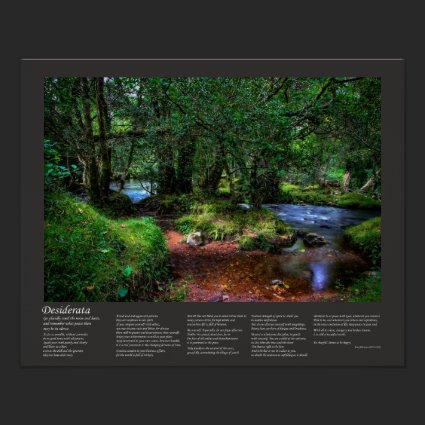 Desiderata Poem - Quietly Flows The River Poster