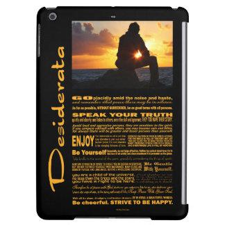 Desiderata Poem Romantic Man At Sunset iPad Air Cover