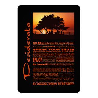 Desiderata Poem Romantic Tree Sunset Card