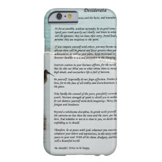 Desiderata Poem - Seagull on the Beach Scene Barely There iPhone 6 Case