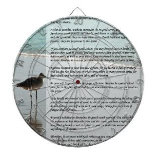 Desiderata Poem - Seagull on the Beach Scene Dartboards