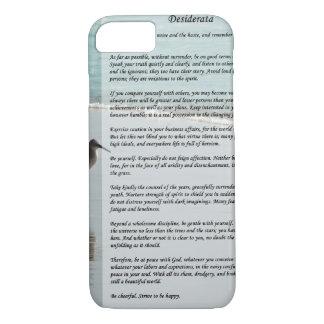 Desiderata Poem - Seagull on the Beach Scene iPhone 8/7 Case