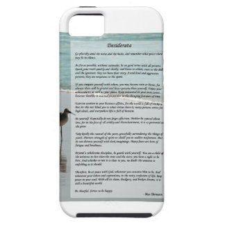 Desiderata Poem - Seagull on the Beach Scene iPhone SE/5/5s Case