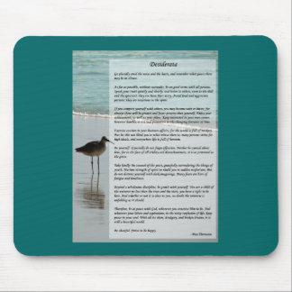 Desiderata Poem - Seagull on the Beach Scene Mouse Pad