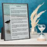 Desiderata Poem - Seagull on the Beach Scene Photo Plaques