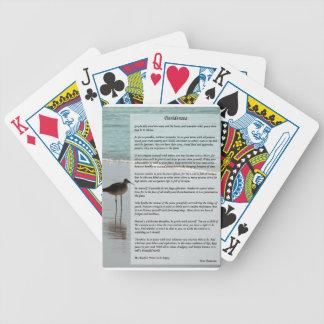 Desiderata Poem - Seagull on the Beach Scene Poker Cards