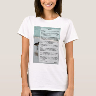 Desiderata Poem - Seagull on the Beach Scene T-Shirt