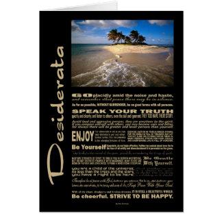 Desiderata Poem Small Solitary Island Card