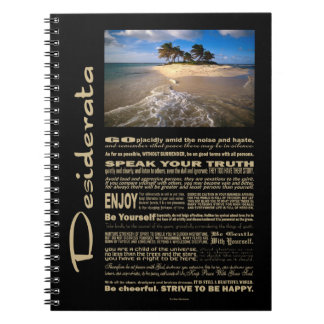Desiderata Poem Small Solitary Island Notebook