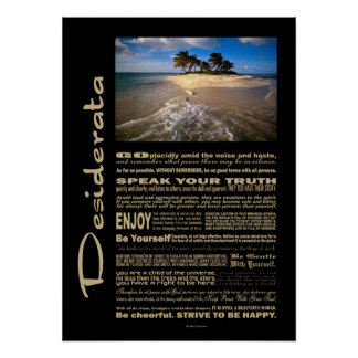 Desiderata Poem Small Solitary Island Posters