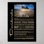Desiderata Poem Small Solitary Island Posters