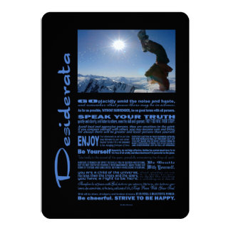Desiderata Poem Snowboard Extreme Card