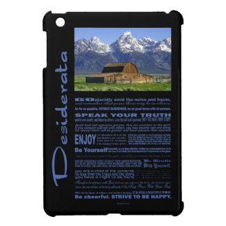 Desiderata Poem Solitary Barn At Grand Tetons #2 iPad Mini Cases