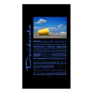 Desiderata Poem Solitary Beach Pail Business Card