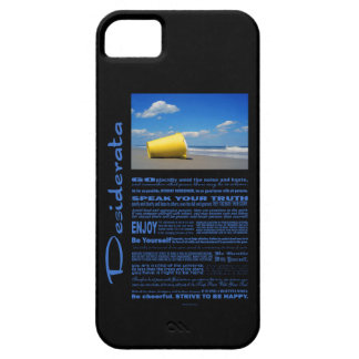 Desiderata Poem Solitary Beach Pail iPhone SE/5/5s Case