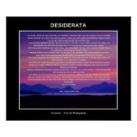 Desiderata poem sunset poster