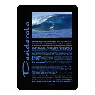 Desiderata Poem Surfing In Hawaii 5x7 Paper Invitation Card