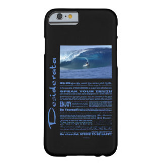 Desiderata Poem Surfing In Hawaii Barely There iPhone 6 Case