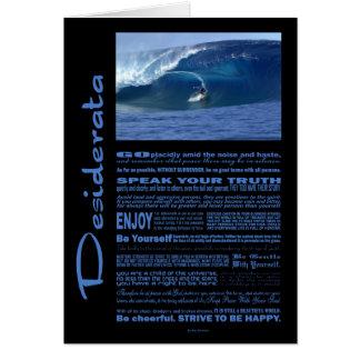 Desiderata Poem Surfing In Hawaii Card