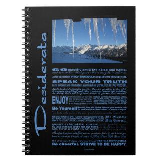 Desiderata Poem Ten Below Zero Note Book