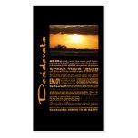 Desiderata Poem Waves At Sunset Business Card