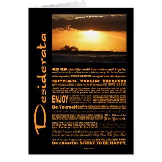 Desiderata Poem Waves At Sunset Card