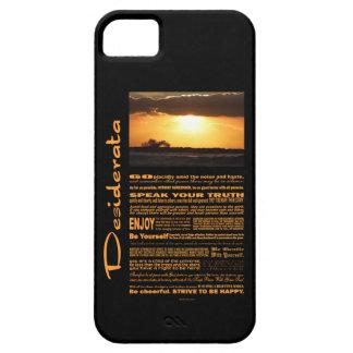 Desiderata Poem Waves At Sunset iPhone SE/5/5s Case