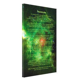 Desiderata Poem - Wreath Nebula, Milky Way Gallery Wrapped Canvas