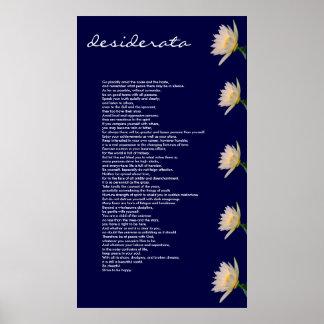 Desiderata ~ Poster