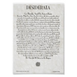 DESIDERATA Poster by Max Ehrmann MANY SIZES