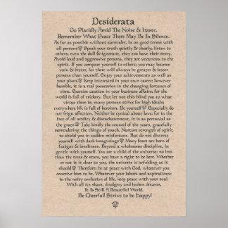 DESIDERATA Poster by Max Ehrmann=Medieval Crowns