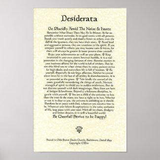 DESIDERATA Poster-Ehrmann-11x17-Church Parchment Poster