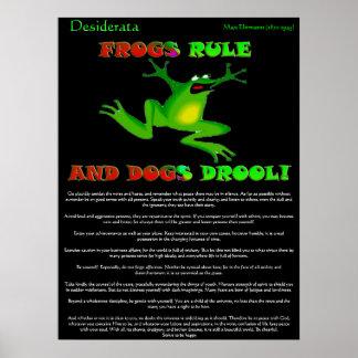 Desiderata Posters frog