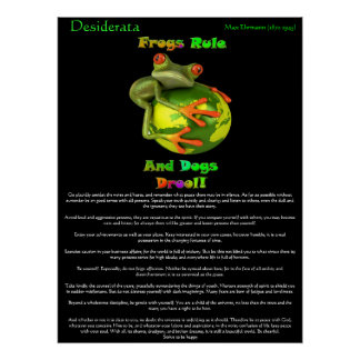 Desiderata Posters frog rule