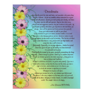 Desiderata prose rainbow colors poster