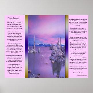 Desiderata Purple Ocean Posters