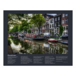 Desiderata - Quiet Canal Scene, Amsterdam Poster