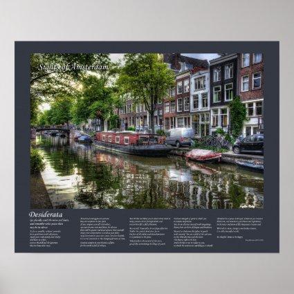 Desiderata - Quiet Canal Scene, Amsterdam Print