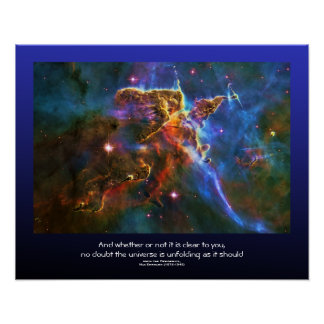 Desiderata quote - Carina Nebula Gas Cloud Poster