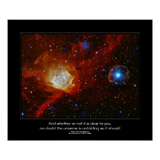 Desiderata quote - Celestial Bauble Poster