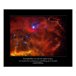 Desiderata quote - Constellation Puppis Nebula Poster