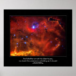 Desiderata quote - Constellation Puppis Nebula Poster
