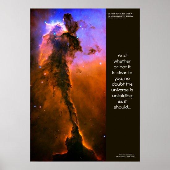 Desiderata Quote, Pillars of Creation Eagle Nebula Poster