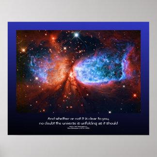 Desiderata quote - Star Birth in Cygnus The Swan Poster